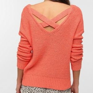 Urban Outfitters Sparkle & Fade Cross Back Sweater